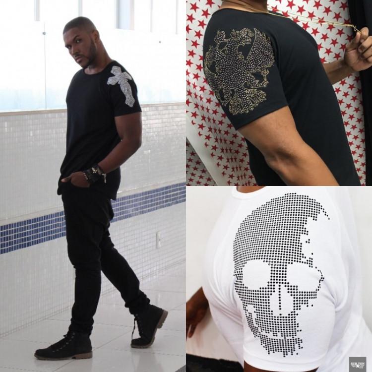 camisa com aplicação na manga